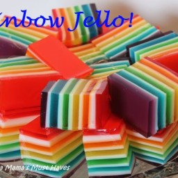 Rainbow Jello Recipe  and  Instructions