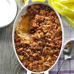 Raisin Bread and Sausage Morning Casserole Recipe