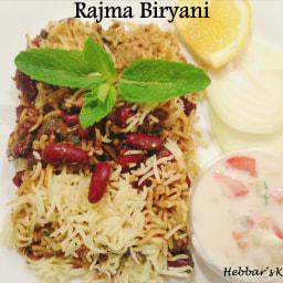 rajma biryani recipe / kidney beans biryani