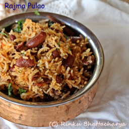 Rajma Pulao – One Pot Rice, Tomatoes and Red Kidney Beans