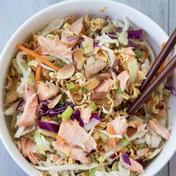Ramen Noodle Salmon Salad