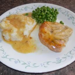 Ranch Pork Chops with  Garlic Parmesan Mashed Potatoes