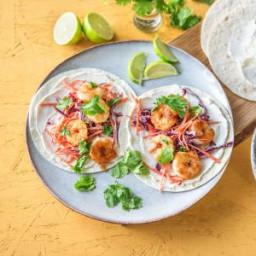 Rapid Crispy Shrimp Tacos with Crunchy Red Cabbage Slaw