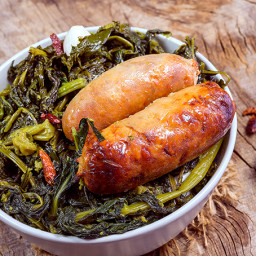 Rapini con Salsicce - Broccoli Rabe with Italian Sausage
