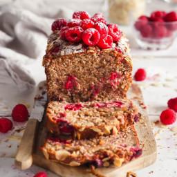 Raspberry almond banana bread