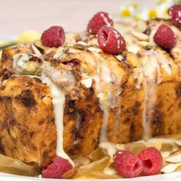 Raspberry Almond Scone Bread