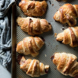 Raspberry and Brie Stuffed Croissants