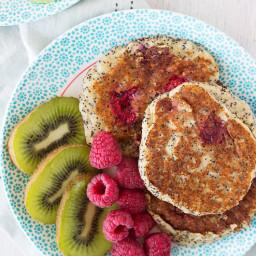 Raspberry and Poppy Seed Almond Flour Pancakes