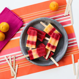Raspberry and Tangerine Popsicles Recipe