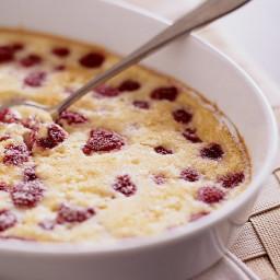 Raspberry Baked Custard
