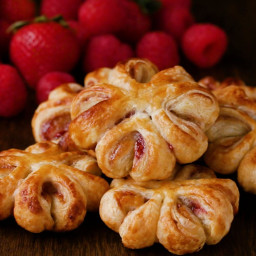Raspberry Jam Puff Pastry Hearts Recipe by Tasty