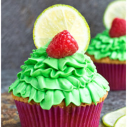 Raspberry lime cupcakes