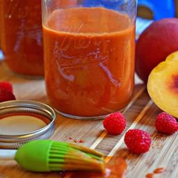 Raspberry Peach Chipotle Barbecue Sauce