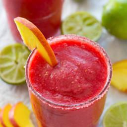 Raspberry Peach Cocktail Slushies