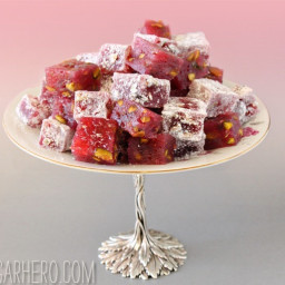 Raspberry-Pistachio Turkish Delight