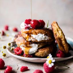 Raspberry Ricotta Croissant French Toast.