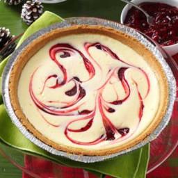 Raspberry Swirled Cheesecake Pie Recipe
