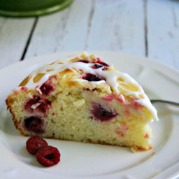 Raspberry Ricotta Cake with Lemon Glaze