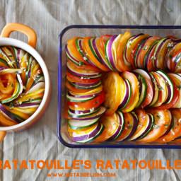 Ratatouille's Ratatouile (Thomas Keller's Confit Byaldi)