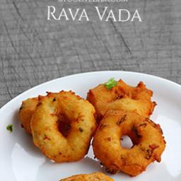 Rava vada - how to prepare vadas with semolina/suji