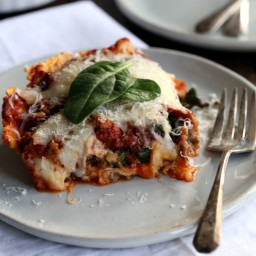 Ravioli and Spinach Lasagna