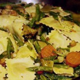 Ravioli Salad with Vegetables and Ham