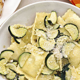 Ravioli with Sautéed Zucchini