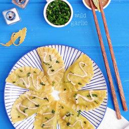 Ravioli With Wild Garlic And Walnut Sauce