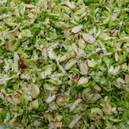 Raw Brussels Sprout Salad with Poppy Seed Dressing