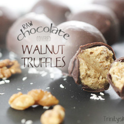 Raw chocolate covered walnut truffles - with excellent omega 3 health benef
