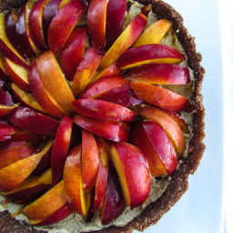 Raw Chocolate Nectarine Tart