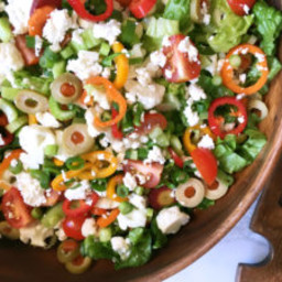 Raw Chop Salad with Olives and Feta