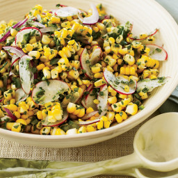 Raw Corn and Radish Salad with Spicy Lime Dressing