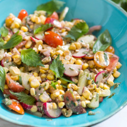 Raw Corn Salad With Shiso and Basil Recipe