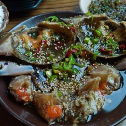 Raw Crabs Marinated in Soy Sauce (Ganjang Gejang)