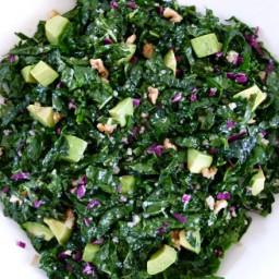 raw kale salad with citrus dressing recipe