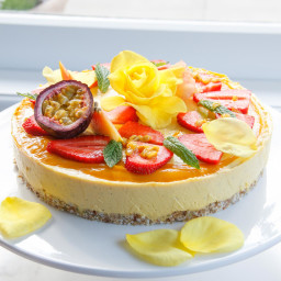 RAW MANGO AND PASSIONFRUIT CAKE