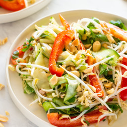 Raw Vegan Pad Thai Salad