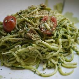 Raw Zucchini Pesto Pasta