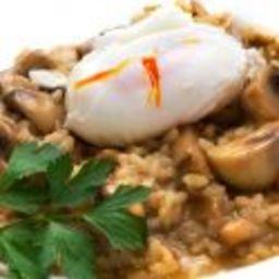 Receta de Risotto de champiñones con huevo
