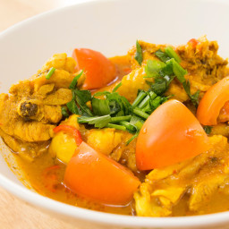 Recipe: Baked Curried Chicken Breasts in a Coconut Milk Sauce