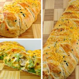 Recipe: Broccoli Cheddar Chicken Braid
