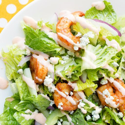 Recipe: Buffalo Shrimp Dinner Salad