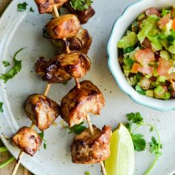 Recipe: Chicken kebobs with salsa