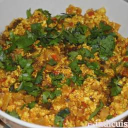 Recipe for Paneer Bhurji - How to make Paneer Bhurji