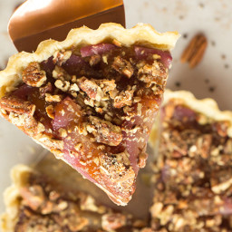 Recipe for: Poached Pear and Gorgonzola Tart with Candied Pecans