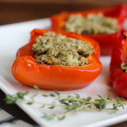 Recipe for Stuffed Peppers with Shitake Mushrooms