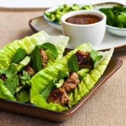 Recipe for Thai-Inspired Turkey Mini-Meatball Lettuce Wraps