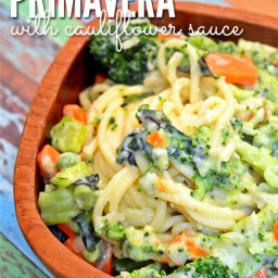 Recipe: Pasta Primavera with Creamy Cauliflower Sauce