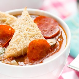Recipe: Skinny Supreme Pizza Soup